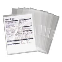 Smead Poly Translucent Project Jackets, Letter, 9 1/4 x 11 3/4, Clear, 5/Pack SMD85751