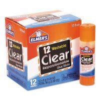 Elmer's Re-Stick School Glue Stick, Clear, 8 g, 12/Pack EPIE4812