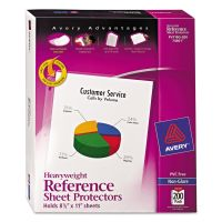 Avery Top-Load Poly Sheet Protectors, Letter, Heavyweight, Nonglare, Clear, 200/Box AVE74401
