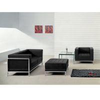 Flash Furniture HERCULES Imagination Series Black Leather Loveseat, Chair & Ottoman Set FHFZBIMAGSET11GG