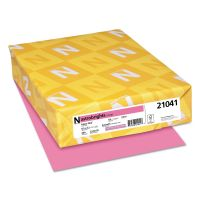 Astrobrights Color Cardstock, Smooth, 65lb, 8 1/2 x 11, Pulsar Pink, 250 Sheets WAU21041
