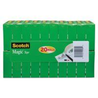 """Scotch Magic Tape Value Pack, 3/4"""" x 1000"""", 1"""" Core, Clear, 20/Pack MMM810K20"""