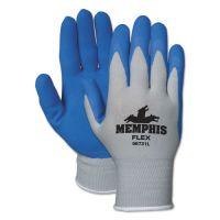 MCR Safety Memphis Flex Seamless Nylon Knit Gloves, X-Large, Blue/Gray, Dozen CRW96731XLDZ