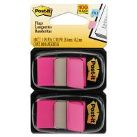 Post-it Flags Standard Page Flags in Dispenser, Bright Pink, 100 Flags/Dispenser MMM680BP2