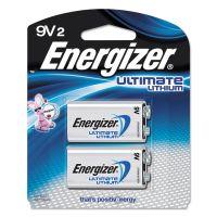 Energizer Lithium Batteries, 9V, 2/Pack EVEL522BP2