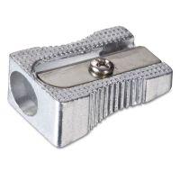 Officemate Metal Pencil Sharpener, Metallic Silver OIC30233
