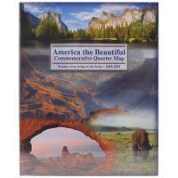 America The Beautiful Commemorative Quarter Map NOTM423566