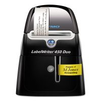 "DYMO LabelWriter DUO Printer, 2 3/10"" Labels, 71 Label/Min, 5 1/2w x 7 4/5d x 7 3/10h DYM1752267"
