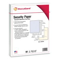DocuGard Standard Medical Security Paper, Blue/Canary, 6 Features, 8 1/2 x 11, 250 Sets PRB04544