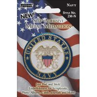 "Military Self-Adhesive Metal Medallion 2"" NOTM413304"