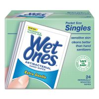 Wet Ones Hand Wipes for Sensitive Skin, 4 25/32 x 2 27/32, Fragrance-Free, 24/BX, 10BX/CT PLX0472101