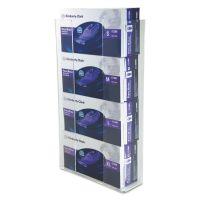 Unimed Wall-Mount Glove Box Holder, 4-Box, Acrylic, Clear, 11 x 3 1/2 x 19 1/4 UMICCG4061284