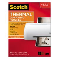 Scotch Letter Size Thermal Laminating Pouches, 5 mil, 11 1/2 x 9, 50/Pack MMMTP585450
