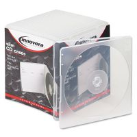 Innovera Slim CD Case, Clear, 25/Pack IVR81900