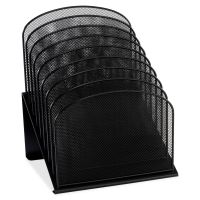 Safco Mayline Mesh Desk Organizer, Eight Sections, Steel, 11 1/4 x 10 7/8 x 13 3/4, Black SAF3258BL