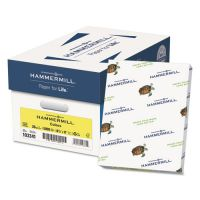 Hammermill Recycled Colored Paper, 20 lb, 8 1/2 x 11, Canary, 500 Sheets/Ream HAM103341