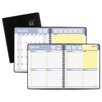 AT-A-GLANCE QuickNotes Weekly/Monthly Planner, 8 x 9 7/8, Black AAG761105