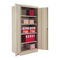 """Tennsco 72"""" High Standard Cabinet, 36w x 24d x 72h, Putty TNN1480PY"""