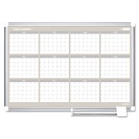 MasterVision 12 Month Year Planner, 36x24, Aluminum Frame BVCGA03106830