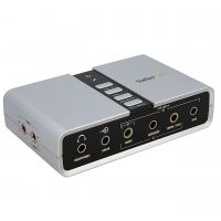 StarTech.com 7.1 USB Audio Adapter External Sound Card with SPDIF Digital Audio SYNX2518430