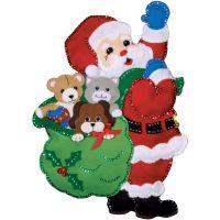 Santa & Friends Wall Hanging Felt Applique Kit NOTM050350