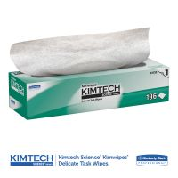 Kimtech* Kimwipes Delicate Task Wipers, 1-Ply, 11 4/5 x 11 4/5, 196/Box, 15 Boxes/Carton KCC34133