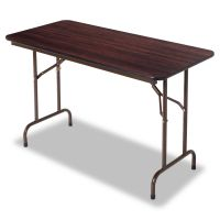 Alera Wood Folding Table, Rectangular, 48w x 24d x 29h, Mahogany ALEFT724824MY