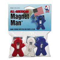Adams Manufacturing Magnet Man Clip, Plastic, Assorted Colors, 3/Pack ADM3303523241