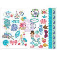 """Julie Nutting Cardstock Stickers 5""""X7"""" 2/Pkg NOTM467200"""
