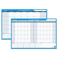 AT-A-GLANCE 30/60-Day Undated Horizontal Erasable Wall Planner, 36 x 24, White/Blue, AAGPM23328