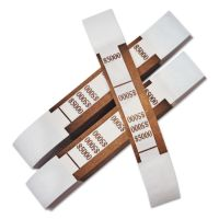 PM Company Color-Coded Kraft Currency Straps, $50 Bill, $5000, Self-Adhesive, 1000/Pack PMC55033