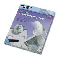 Apollo B/W Laser Transparency Film, Letter, Clear, 50/Box APOCG7060