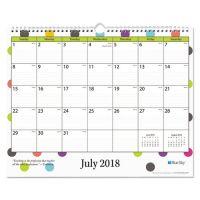 """Blue Sky Teacher Dots Academic Year Wall Calendar, 15"""" x 12"""", Asst Color Dots, 2018-2019 BLS100340"""