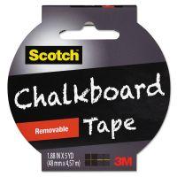 "Scotch Chalkboard Tape, 1.88"" x 5yds, 3"" Core, Black MMM1905RCBBLK"