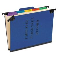 Pendaflex Personnel Folders, 1/3 Cut Hanging Top Tab, Letter, Blue PFXSER2BL