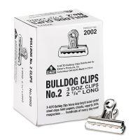"X-ACTO Bulldog Clips, Steel, 1/2"" Capacity, 2-1/4""w, Nickel-Plated, 36/Box EPI2002LMR"