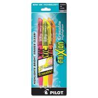 Pilot Frixion Lite Erasable Highlighter, Assorted Ink, Chisel, 3/Pack PIL46507