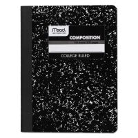 Mead Composition Book, College Rule, 9 3/4 x 7 1/2, White, 100 Sheets MEA09932