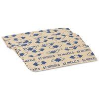 PM Company Tubular Coin Wrappers, Nickels, $2, Pop-Open Wrappers, 1000/Pack PMC53005