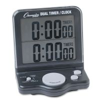 Champion Sports Dual Timer/Clock w/Jumbo Display, LCD, 3 1/2 x 1 x 4 1/2 CSIDC100