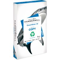 Hammermill Great White Recycled Copy Paper, 92 Brightness, 20 lb, 8 1/2 x 14, White, 500 Sheets/Ream HAM86704