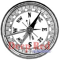 """Deep Red Cling Stamp 2""""X2"""" NOTM064355"""