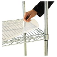 Alera Shelf Liners For Wire Shelving, Clear Plastic, 36w x 18d, 4/Pack ALESW59SL3618