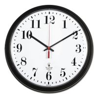 "Chicago Lighthouse Black Quartz Contract Clock, 13-3/4"", Black ILC67700002"