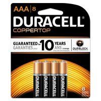Duracell CopperTop Alkaline Batteries, AAA, 8/PK DURMN2400B8Z