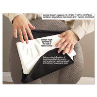 Master Caster Deluxe Lumbar Support Cushion w/Memory Foam, 12 1/2w x 2 1/2d x 7 1/2h, Black MAS92061