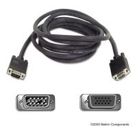 Belkin Pro Series SVGA Monitor Extension Cable, HD-15, 10 ft., Black BLKF3H98110