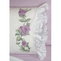 "Stamped Ruffled Edge Pillowcases 30""X20"" 2/Pkg NOTM493918"