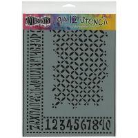 "Dyan Reaveley's Dylusions Stencils 9""X12"" NOTM249727"