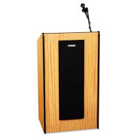 AmpliVox Presidential Plus Wireless Sound Lectern, 25-1/2w x 20-1/2d x 46-1/2h, Med Oak APLSW450MO